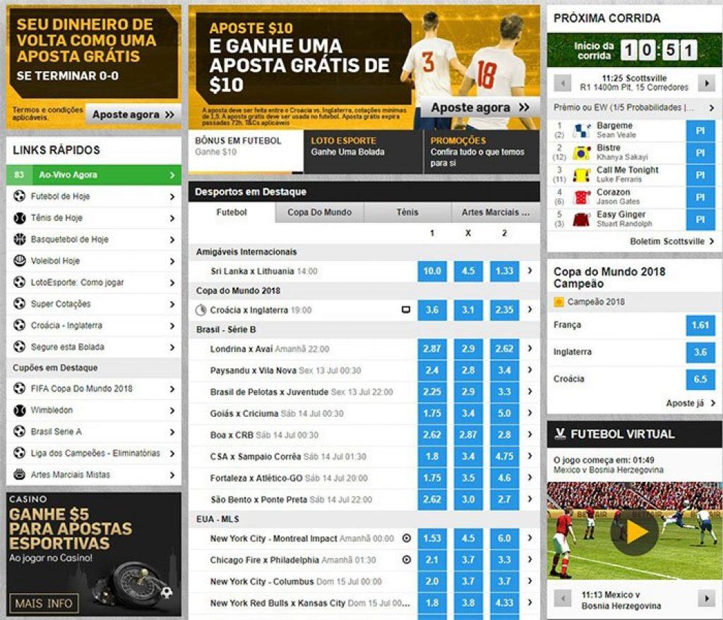 fb85b8af91 A Betfair também oferece a opção de seguir determinados eventos através da  TV integrada no seu site