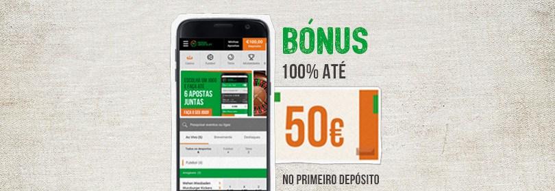 bonus boas vindas 50€